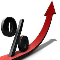 Prozente Ansteigend