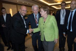 Wirtschaftstag 2017 mit Frau Dr. Angela Merkel und Herrn Andreas Schrobback