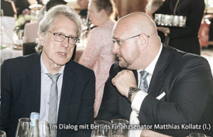 Andreas Schrobback mit dem Finanzsenator Matthias Kollatz